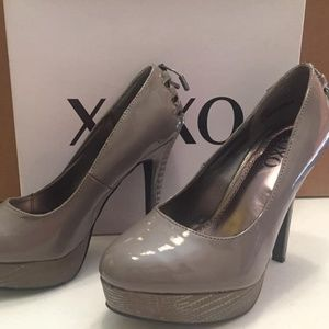 Grey Patent Heels size 7